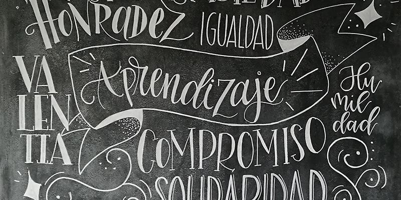 Chicas en Lettering: un mural en Lifting Hands