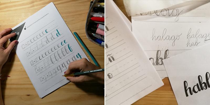 guía de práctica de lettering