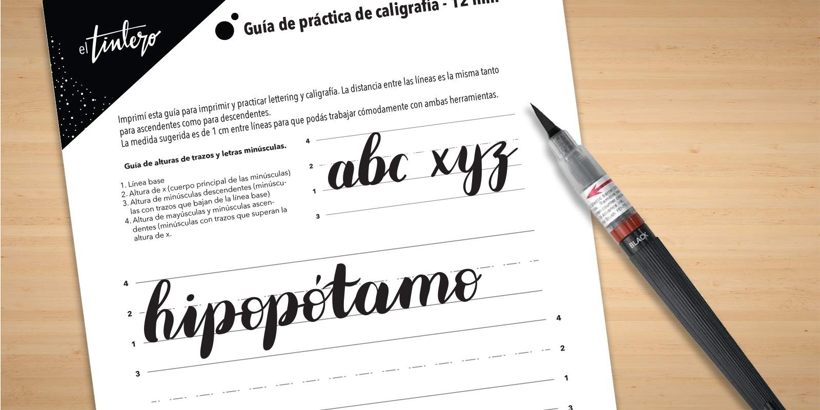 cuaderno de caligrafía