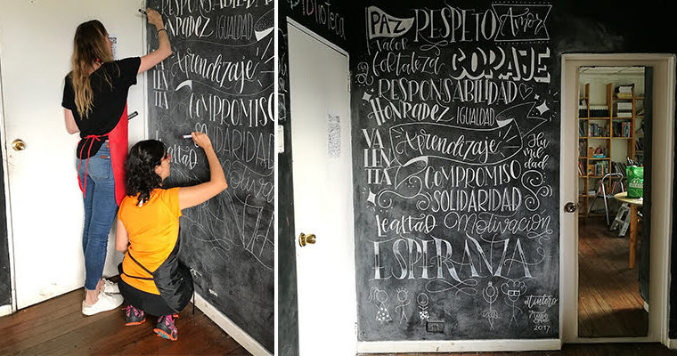 Chicas en Lettering: un mural en Lifting Hands